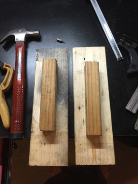 Wood Spacer's for spacing the Bar apart